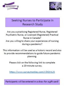 Research poster for recruitment to a study for nurses